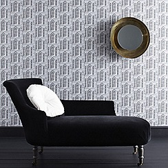 Graham & Brown - Grey Stone Folly Wallpaper