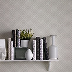 Graham & Brown - Parchment Trellis Wallpaper