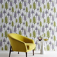 Graham & Brown - Lilac Foxglove wallpaper
