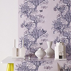 Graham & Brown - Lilac Urban Tree wallpaper
