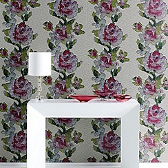 Graham & Brown - Multi coloured Tapestry Rose wallpaper