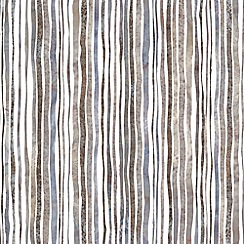 Graham & Brown - Natural Coffee Stripe wallpaper
