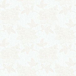 Laurence Llewelyn-Bowen - Off White Love Lace Wallpaper