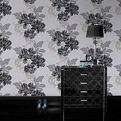 Laurence Llewelyn-Bowen - Black Cascada Wallpaper