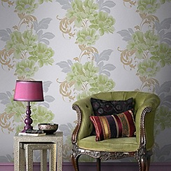 Laurence Llewelyn-Bowen - Soft Green Cascada Wallpaper