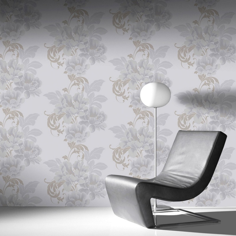 Laurence Llewelyn-Bowen Pearl Cascada Wallpaper, White