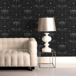 Laurence Llewelyn-Bowen - Charcoal Paradise Wallpaper