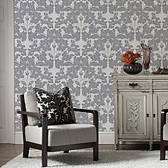 Laurence Llewelyn-Bowen - Grey Paradise Wallpaper