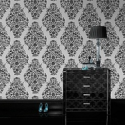 Laurence Llewelyn-Bowen - Black Floribunda Wallpaper