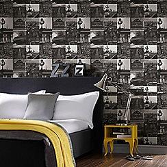Fresco - Black and White Paris Photography Wallpaper