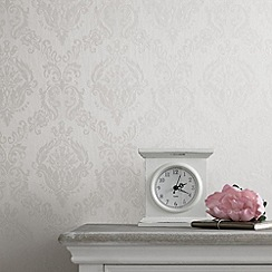 Superfresco - White Shimmer Damask wallpaper
