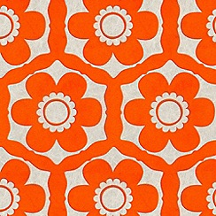 Barbara Hulanicki - Tangerine Dream Funky Flora Wallpaper