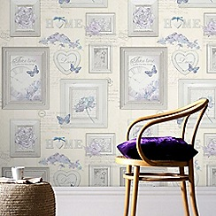 Fresco - Beige Pretty Vintage Frames Wallpaper