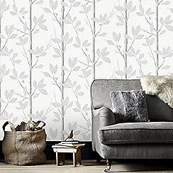 Fresco - Grey Acorn Forrest Inspired Wallpaper