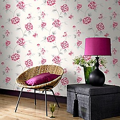 Fresco - Red Chinese Blossom Floral Wallpaper