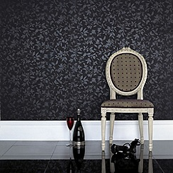 Graham & Brown - Black Midsummer wallpaper