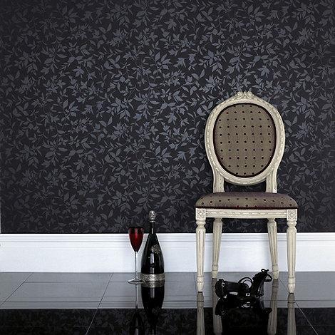 Graham & Brown - Black Midsummer wallpaper