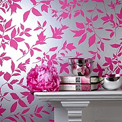 Graham & Brown - Hot pink Midsummer wallpaper