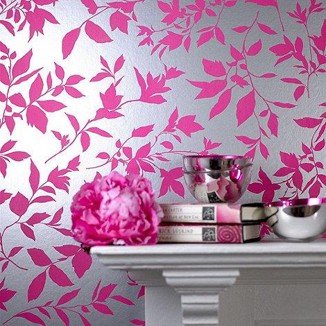 Graham & Brown - Hot pink Midsummer wallpaper
