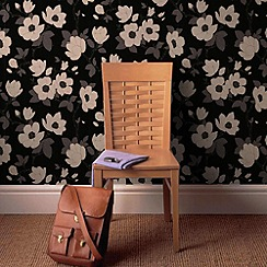 Graham & Brown - Charcoal Elinor wallpaper