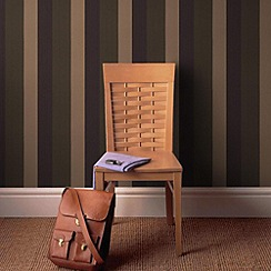 Graham & Brown - Amethyst/chocolate Figaro wallpaper