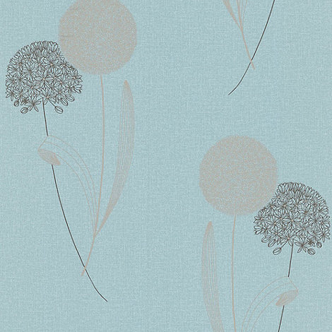Graham & Brown - Duck Egg Alium wallpaper