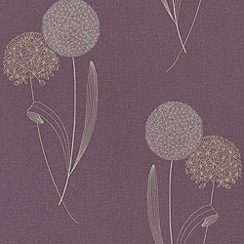 Graham & Brown - Damson Alium wallpaper