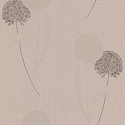 Graham & Brown - Taupe Alium wallpaper