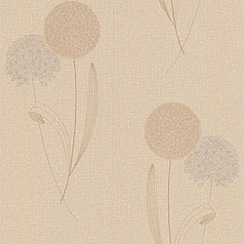 Graham & Brown - Sand Alium wallpaper