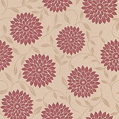 Graham & Brown - Red Flora wallpaper