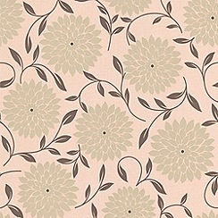 Graham & Brown - Olive Flora wallpaper