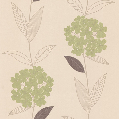 Graham & Brown - Olive Symmertry wallpaper