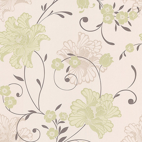 Laurence Llewelyn-Bowen - Spring green Taffetia wallpaper