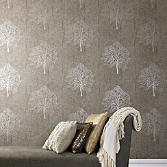 Graham & Brown - Golden Brown Enchant wallpaper