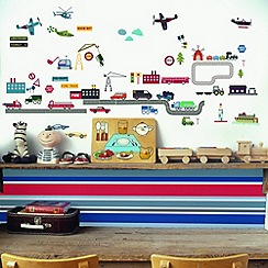 Graham & Brown Kids - Lemon RibbonTransportation Wall Sticker