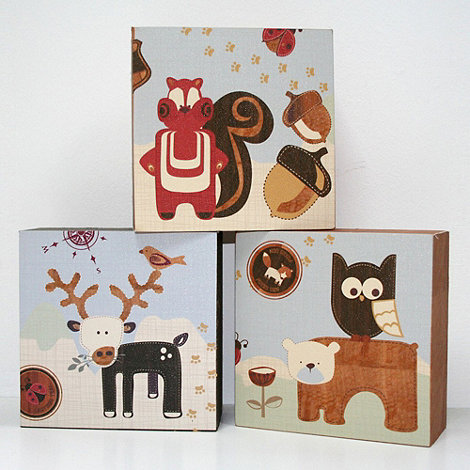 Graham & Brown Kids - Graham & Brown Forager Set of 3 Canvas Blocks