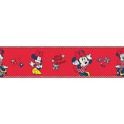Disney - Red Minnie Mouse Wallpaper Border
