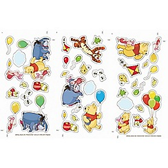 Disney - Yellow Winnie the Pooh Small Wall Sticker