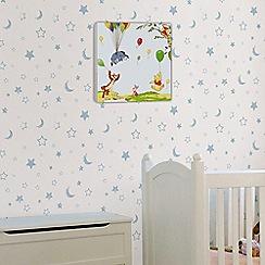 Disney - Blue Winnie the Pooh Printed Canvas (30x30cm)
