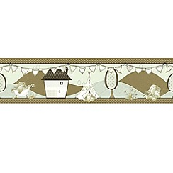 Graham & Brown Kids - Cream Elefump Border Wallpaper