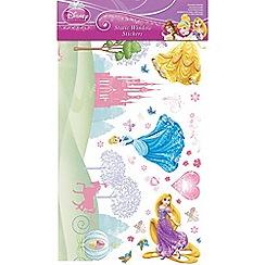 Disney - Multicoloured Princess Static Window Stickers