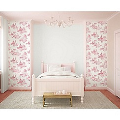Disney - Pink Disney Princess Toile Wallpaper