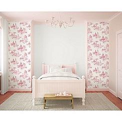 Disney - Pink Disney Princess Toile Wallpaper