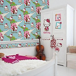 Graham & Brown - Hello Kitty Woodland Stroll Wallpaper