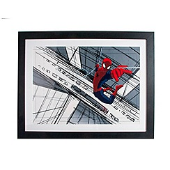 Marvel - Red Spiderman Sketch Framed Print