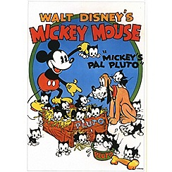 Disney - Mickey Mouse and Pluto canvas