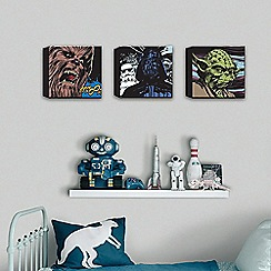 Star Wars - Star Wars Comic Set Of 3 30X30cm Canvas