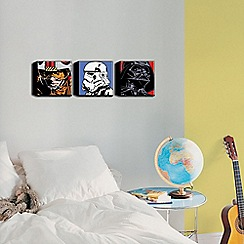 Star Wars - Star Wars Comic Set Of 3 20X20cm Canvas