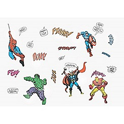 Marvel - Multicoloured Marvel Comics Small Wall Stickers