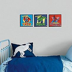 Marvel - Multicoloured Marvel Comics Box Art Canvas